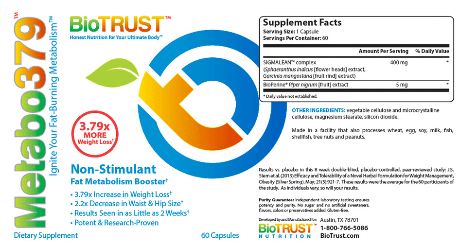 BioTrust Metabo379 Reviews – Is The Metabolism Boosting Pill Good?